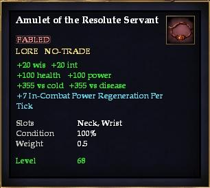 Amulet of the Resolute Servant