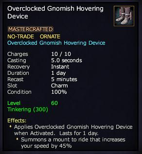 Overclocked Gnomish Hovering Device