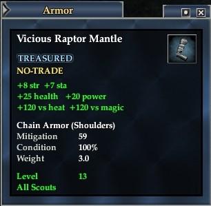 Vicious Raptor Mantle