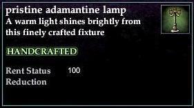 A pristine adamantine lamp