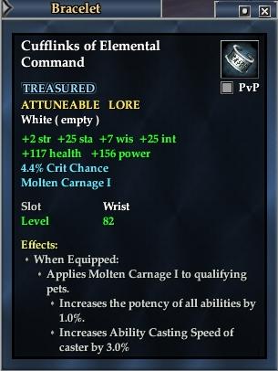 Cufflinks of Elemental Command