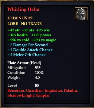 Whirling Helm (Level 80)