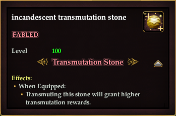 Incandescent transmutation stone