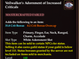 Veilwalker's Adornment of Increased Criticals (Collection Reward)
