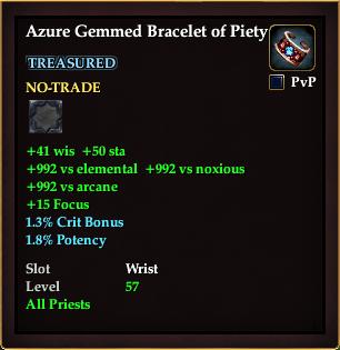 Azure Gemmed Bracelet of Piety