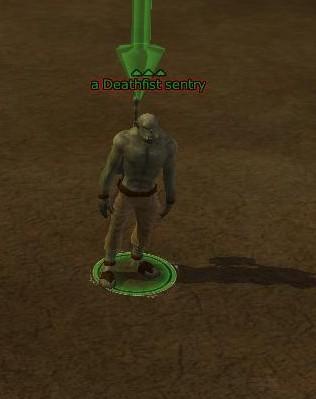 A Deathfist sentry