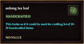 Oolong tea leaf (Crate Reward)