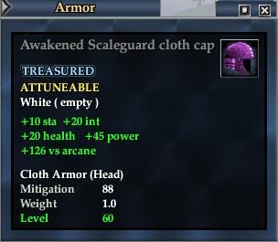 Awakened Scaleguard cloth cap