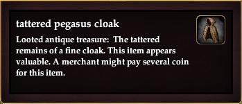 Tattered pegasus cloak