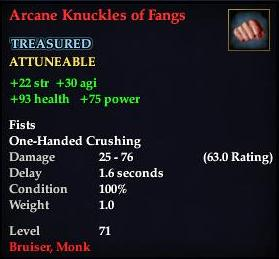 Arcane Knuckles of Fangs
