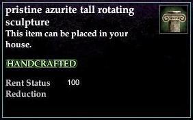 Azurite tall rotating sculpture