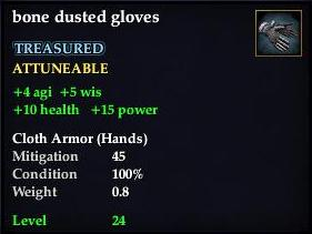 Bone dusted gloves