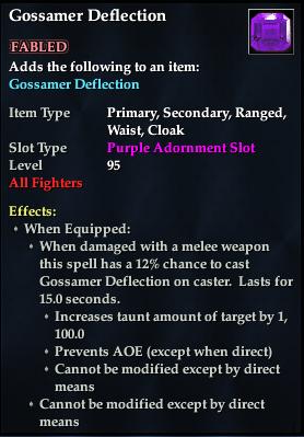 Gossamer Deflection (92, purple, Fabled)