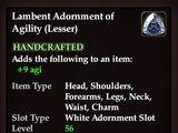 Lambent Adornment of Agility (Lesser)