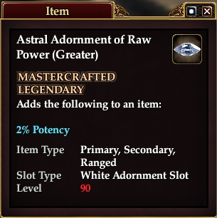 Astral Adornment of Raw Power (Greater)