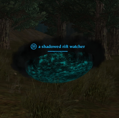 A shadowed rift watcher (Zek, the Orcish Wastes)