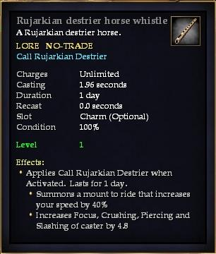 Rujarkian destrier horse whistle