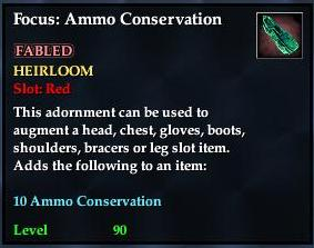 Focus: Ammo Conservation (yellow)