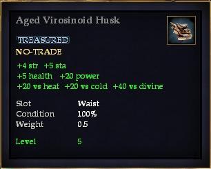 Aged Virosinoid Husk