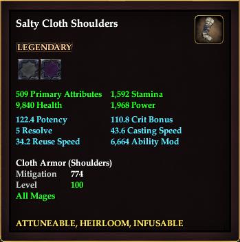Salty Cloth Shoulders