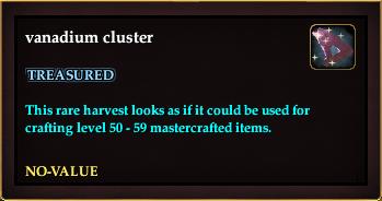 Vanadium cluster (Crate Reward)