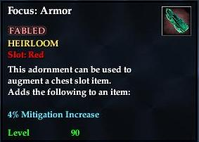 Focus: Armor (yellow)