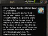 Isle of Refuge Prestige Home Deed of Ownership