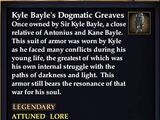 Kyle Bayle's Dogmatic Greaves (Version 1)