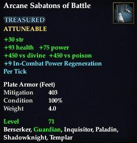 Arcane Sabatons of Battle