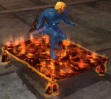 Order of Flame Lava-threaded carpet