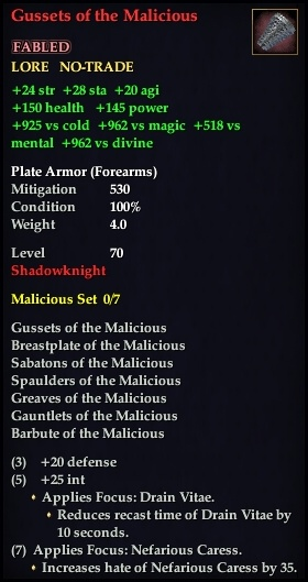 Gussets of the Malicious (Version 1)