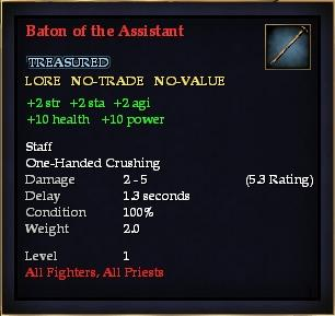 Baton of the Assistant