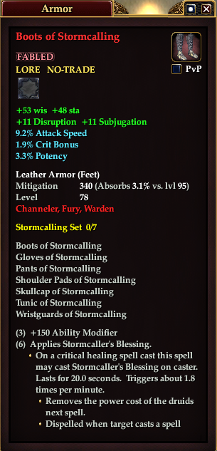 Boots of Stormcalling (Level 78)