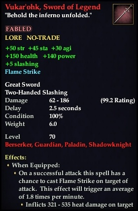 Vukar'ohk, Sword of Legend