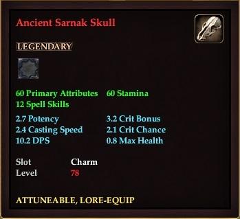 Ancient Sarnak Skull (Level 78)