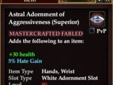 Astral Adornment of Aggressiveness (Superior) (Crafted)