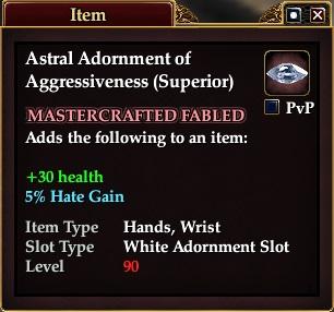 Astral Adornment of Aggressiveness (Superior)