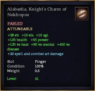 Alabastia, Knight's Charm of Nektropos