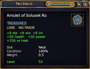 Amulet of Solusek Ro