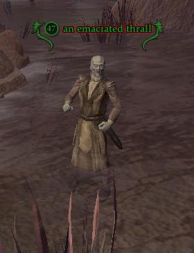 An emaciated thrall