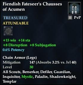 Fiendish Fateseer's Chausses of Acumen