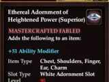 Ethereal Adornment of Heightened Power (Superior)