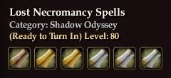 Lost Necromancy Spells