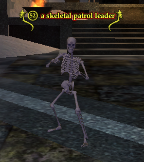 A skeletal patrol leader