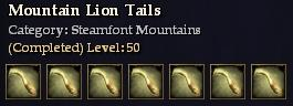 Mountain Lion Tails