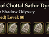Tablets of Chottal Sathir Dynasty