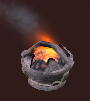 Hewn Stone Fire Pot