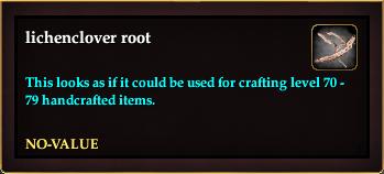 Lichenclover root