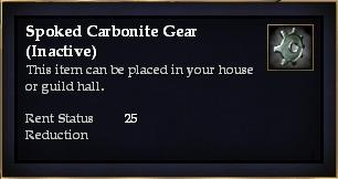 Spoked Carbonite Gear (Inactive)