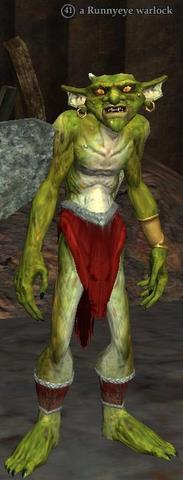 A Runnyeye warlock (Runnyeye)